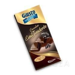 Giusto Senza Zuccheri Tavoletta di Cioccolato Extra Fondente