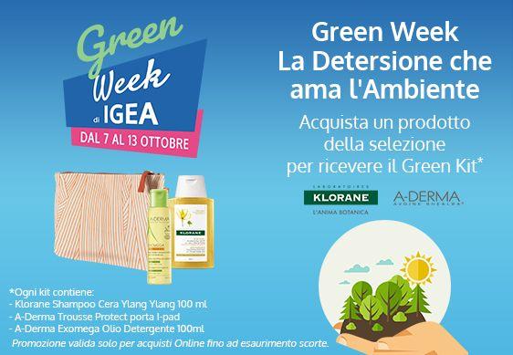 Green Week Igea: doppio vantaggio sconto più omaggio!