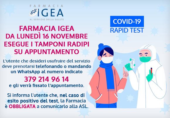 Farmacia Igea Tamponi Rapidi In Farmacia Igea