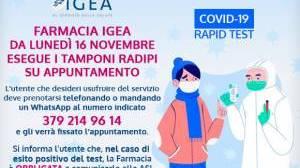 Tamponi rapidi in Farmacia Igea