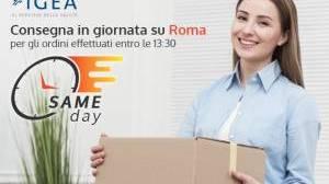 Novità in Farmacia Igea. Same Day: consegne in giornata su Roma