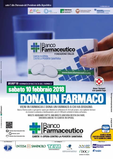 Sabato 10 c'è il Banco Farmaceutico, dona un farmaco a chi ne ha bisogno
