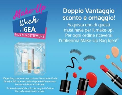 Make-Up Week di Igea. Doppio Vantaggio sconto più omaggio!