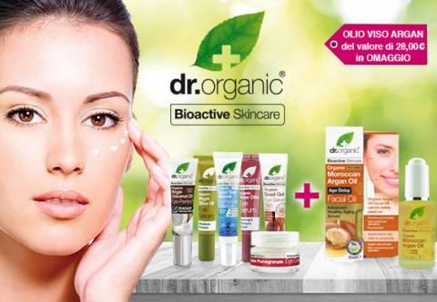 Promo Dr Organic: Olio Viso Argan in regalo!