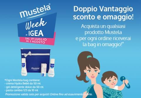 Mustela Week Igea: doppio vantaggio sconto più omaggio!