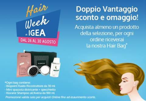 Hair Week Igea: doppio vantaggio sconto più omaggio!