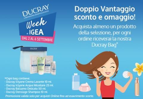 Ducray Week Igea: doppio vantaggio sconto più omaggio!