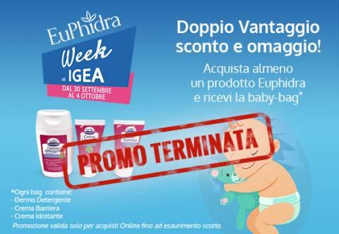 Euphidra Week Igea: doppio vantaggio sconto più omaggio!