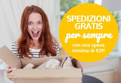 Spedizioni gratis per te da € 29!