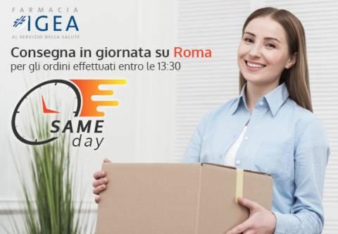 Nuovo servizio della Farmacia Igea: consegne Same Day su Roma